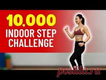 10,000 Indoor STEP🚶♀️Challenge (Burn Calories!) | Joanna Soh