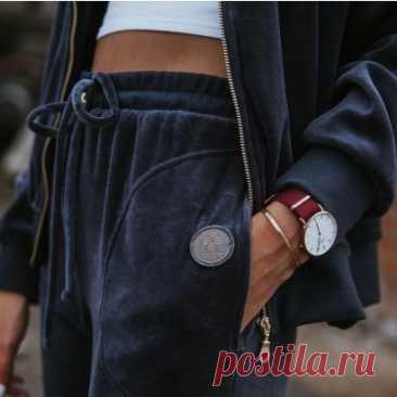 Женские велюровые брюки - Женские велюровые и трикотажные костюмы - Одежда MARAT