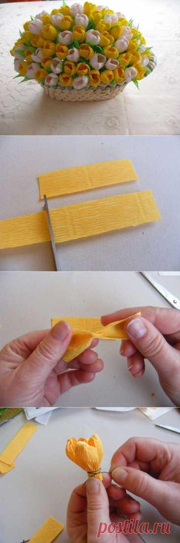 Los crocos del papel ondulado. La Clase maestra.