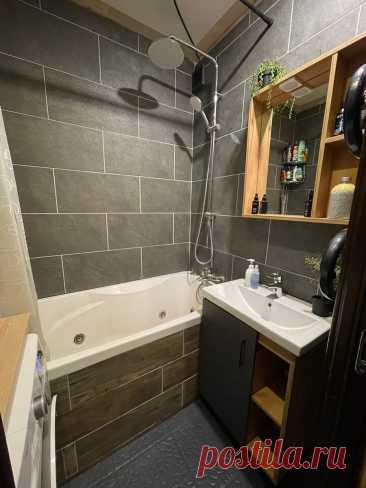 Преобразил ванную в типовом доме серии П-44. Получилась стильная и атмосферная ванная. Показываю что получилось. | SMALLFLAT.RU | Яндекс Дзен