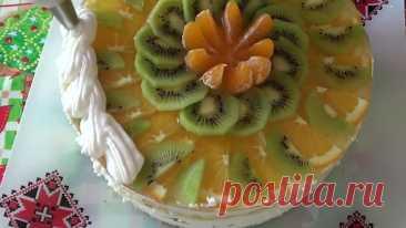 Творожный торт-суфле 'Сказочный'. Бисквитный торт на Праздничный стол