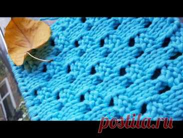 Вяжем эффектную плетёнку спицами 👌 knitting pattern.