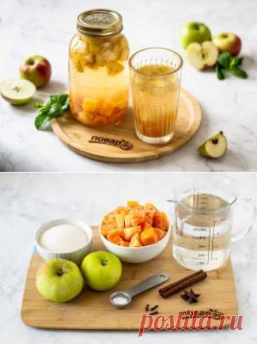Компот из тыквы и яблок   Вкусные кулинарные рецепты