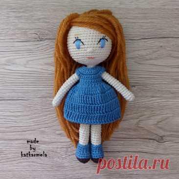 Кукла крючком для начинающих: Лейла - Katkarmela о вязании Кукла крючком для начинающих Лейла связана единым полотном из хлопковой пряжи, рост 18 см, без каркаса, подходит для детей. Автор katkarmela.