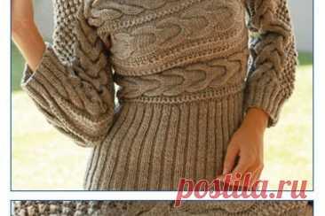 Пуловер, связанный в поперечном направлении Женский пуловер, связанный на спицах в поперечном направлении.