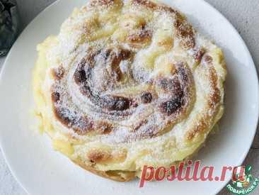 Яблочный пирог-торт с заварным кремом Кулинарный рецепт