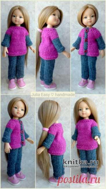 Вязаный костюм для куклы Paola Reina. Работа Julia Easy, Вязаные игрушки