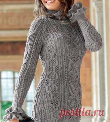Два красивых узора с косами для пуловера Необычные косы спицами для женского пуловера На схемах даны только лицевые ряды.... Читай дальше на сайте. Жми подробнее ➡