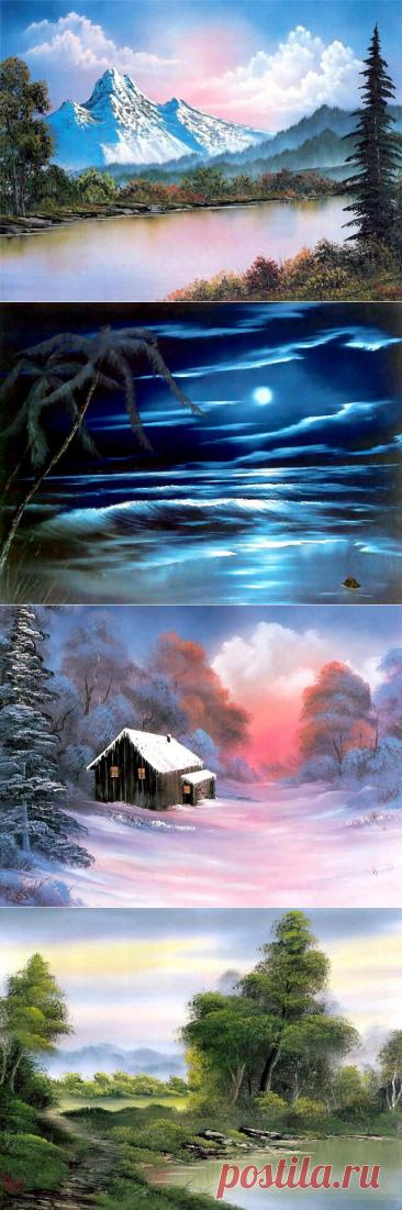 Пейзажи. Robert Norman Ross (29.10.1942 - 4.06.1995)