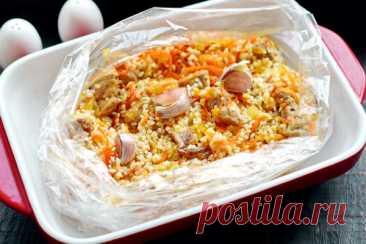 Плов в пакете в духовке – рецепт с фото