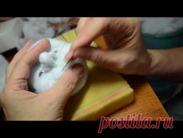 мастер класс по изготовлению скульптурной -текстильной куклы ч.4 - YouTube