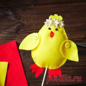 DIY МК Цыпленок из фетра / Пасхальный декор своими руками