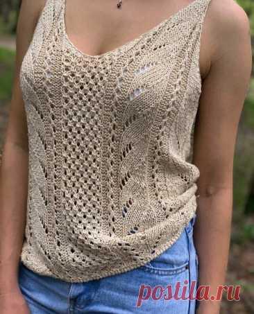 Майки и футболки на лето из хб пряжи. Смотрите очень интересные модели!   Вяжем, лепим, творим, малюем)   Яндекс Дзен