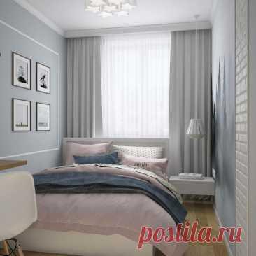 Узкая спальня: идеи и примеры дизайна | ТК «Ланской» | Яндекс Дзен