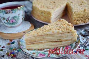 Торт «Наполеон» классический (из домашнего теста) — Кулинарная страничка
