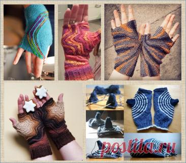 Пост о том, что фантазия мастеров вязания безгранична - рассматриваем просто бомбические митенки, связанные спицами и крючком | МНЕ ИНТЕРЕСНО | Яндекс Дзен