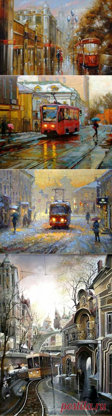 Трамвай в живописи.