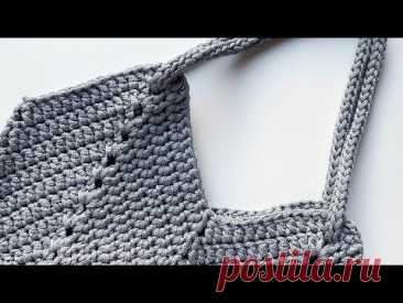 Мастер-класс по вязанию сумки-шопера крючком