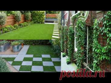 Красивое благоустройство двора частного дома