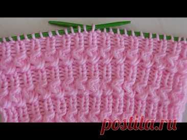 iki şiş kolay örgü model anlatımı 💐crochet knitting