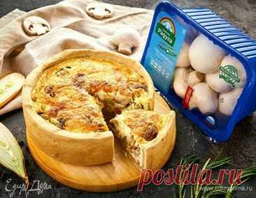 Киш с шампиньонами, овощами и сыром, пошаговый рецепт на 2947 ккал, фото, ингредиенты - Грибная радуга