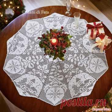 Две филейные рождественские салфетки - Все в ажуре... (вязание крючком) - Страна Мам