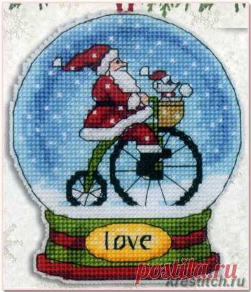 Love Snow Globe - Снежный шар /Любовь (арт.70-08903 Dimensions) набор для вышивания крестом купить в Stitch и Крестик