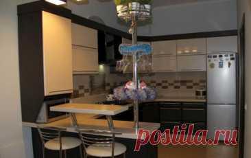 Барная стойка для кухни – оригинальное оформление интерьера #барнаястойка #интерьеркухни #дизайнинтерьера