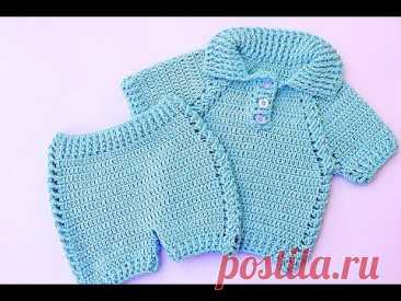 Set of pants with jersey very easy and fast #crochet #majovelcrochet
