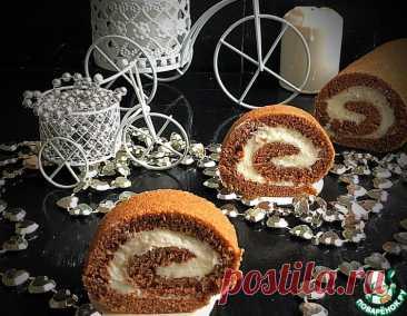 Шоколадный рулет со сметанным кремом