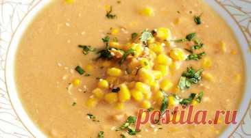 Быстрый куриный суп с кукурузой и имбирем - Образованная Сова