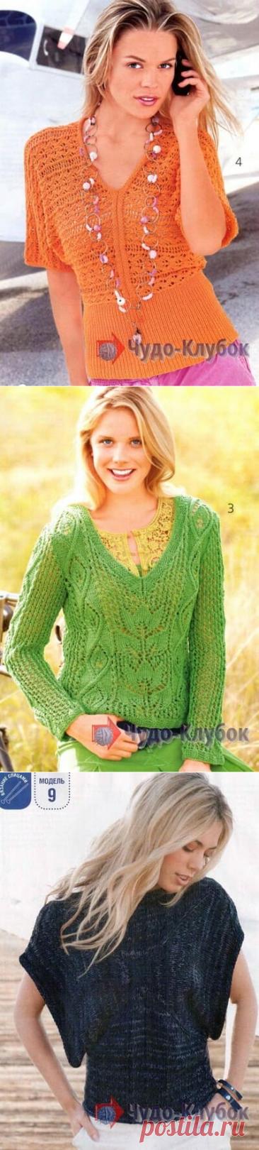 Вязаный спицами женский пуловер *❤️️ ЧУДО-КЛУБОК.рУ ➲ официальный сайт вязания ✶