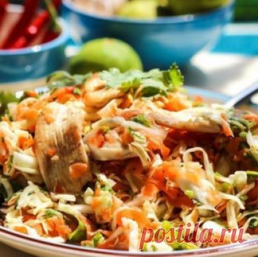 Курино-тайский салат