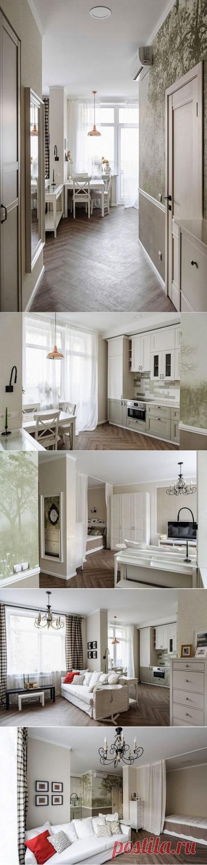 Небольшая квартира на 40 м² с обворожительным интерьером, в котором чувствуется тепло и домашний уют. | DESIGNER | Яндекс Дзен