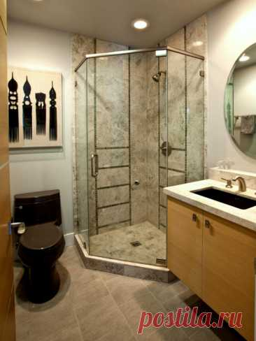 Ideas of design of a small bathroom which are simple for embodying in the apartment