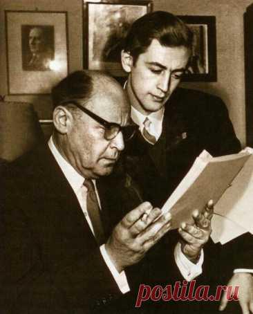 Борис Ливанов с сыном Василием