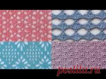 Узор крючком - Crochet Pattern - YouTube
