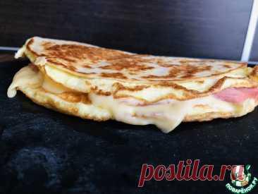 Омлет в лаваше с сыром и ветчиной Кулинарный рецепт