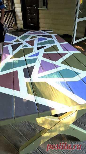 Как перекрасить уличный стол на даче | Журнал Ярмарки Мастеров