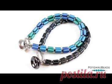 Tubelet Trio Bracelet - DIY Jewelry Making Tutorial by PotomacBeads