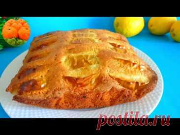"""Яблочный пирог """"Подушка"""". Самый вкусный и простой рецепт домашнего пирога. Вкусно Пальчики оближешь"""