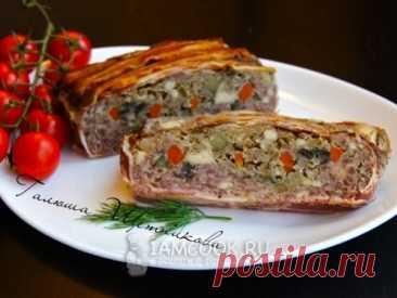 Мясной террин с баклажаном  — рецепт с фото