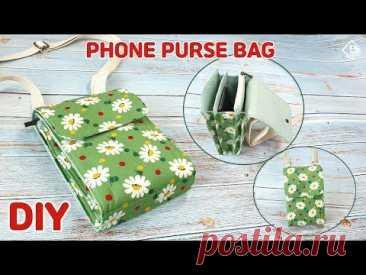 Сумка-кошелек для телефона своими руками / мини-сумка через плечо / руководство по шитью