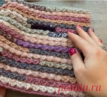 Как связать коврик из остатков пряжи своими руками