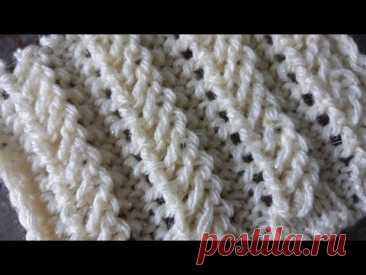 Несложный ажурный узор спицами для джемпера, платья, кардигана, свитера. - YouTube