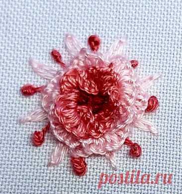 Фантазийные цветы в наборной (бразильской) технике | ВЕРА БУРОВА, канал про вышивку | Яндекс Дзен