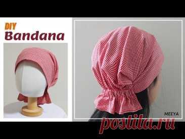 DIY Bandana| 두건 만들기| Pattern included |반다나| 헤어스카프| 머리수건| Head band| Hair scarf|도안|패턴포함|バンダナ