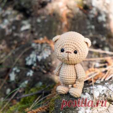 PDF Медвежонок крючком. FREE crochet pattern; Аmigurumi animal patterns. Амигуруми схемы и описания на русском. Вязаные игрушки и поделки своими руками #amimore - медведь, медвежонок, маленький мишка.