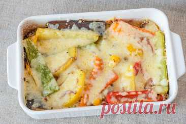 Овощи, запеченные с сыром рецепт с фото пошагово