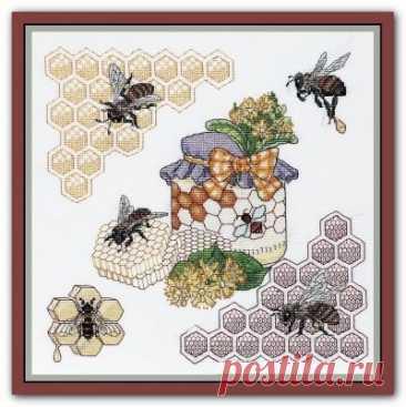 схема для вышивки крестом Липовый мед